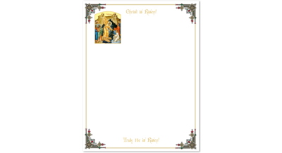 Community Cards - 2019 Easter Letterhead