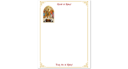 Community Cards - 2020 Easter Letterhead