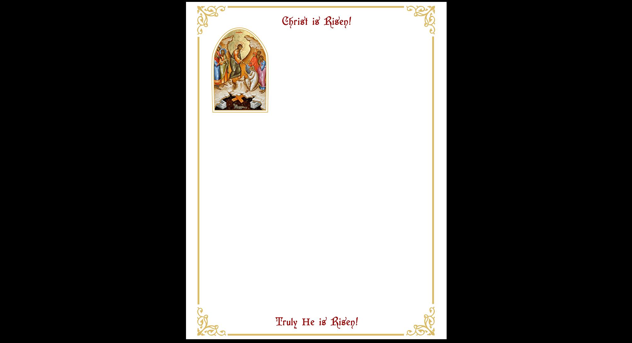 Community Cards - 2020 Easter Letterhead